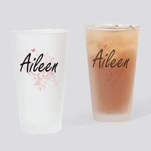 Aileen Artistic Name Design with Bu Drinking Glass